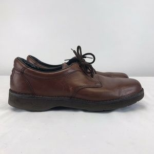 Rockport Brown Leather Shoes Mens Size 12 Lace Up